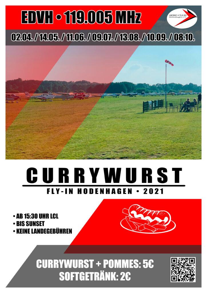 Currywurst Fly-In Hodenhagen 2021_Flyer