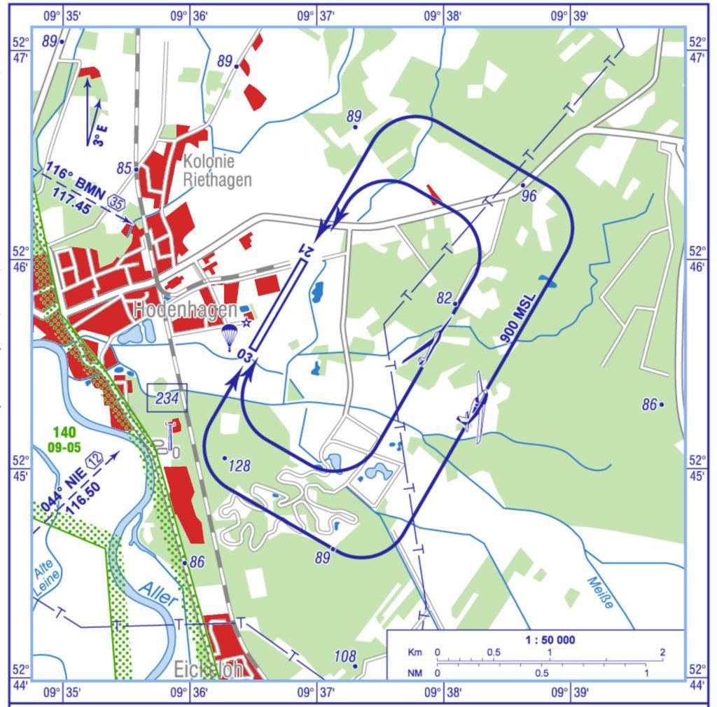 VFR Anflugkarte